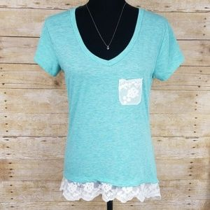Rue 21 Tee With Lace Detailing